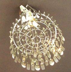 Silverware chandelier