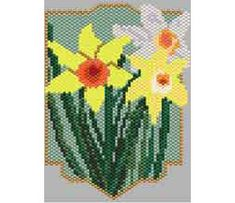 Daffodils Bead Pattern at Sova-Enterprises.com