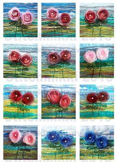 #digital collage sheet #instant download 2.25 inch square tiles  digital collage sheet  by StitchMikki, $3.00