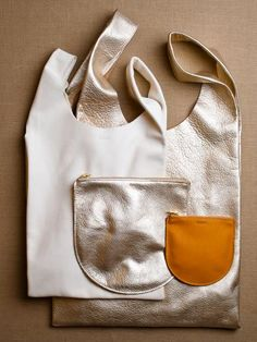 Leather Baggu Bags.