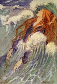 "Emma Florence Harrison illustration to ""Dreamland"" by Christina Rossetti"