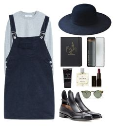 """Blue"" by starsloves ❤ liked on Polyvore featuring MANGO, Urban Outfitters, Marc Jacobs, Caran D'Ache, Francesco Russo, Stila, Miller Harris, Illamasqua and Forever 21"