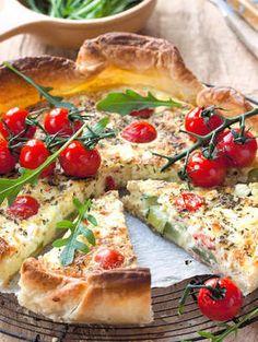 Quiche met courgette, kerstomaat en feta - Culinair - Nina