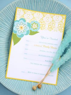 Beautiful, free, printable invitations.