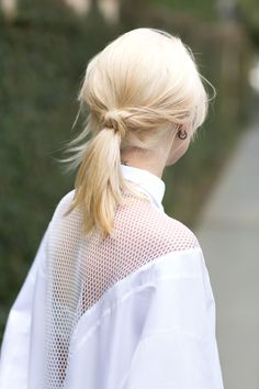 low knotted #ponytail #hair