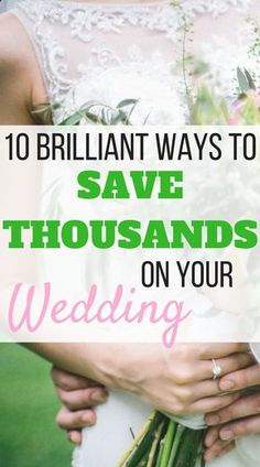 How to Plan an Affordable Wedding: 10 Insanely Smart Ideas | Did you know that the average wedding costs over $36,000? Here are 10 brilliant ways to plan an affordable wedding and make your dollars go that much further. We've discovered these hacks through the process of planning our own wedding, and they can really add up to some serious savings.