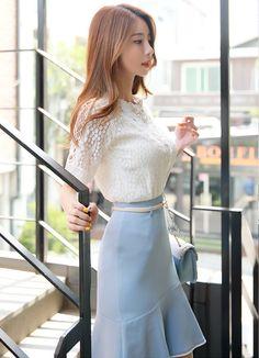 Korean Women`s Fashion Shopping Mall, Styleonme. Fashion Models, Girl Fashion, Fashion Outfits, Womens Fashion, Korean Beauty, Asian Beauty, Classy Work Outfits, Sexy Blouse, Foto Pose