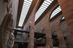 Museo Nacional de Arte Romano, Mérida, Spain,  common ground between industrial and roman architecture.
