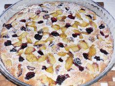 Rychlý koláč - rychlý koláč ze zakysané smetany. Rychlý koláč s ovocem. Rychlý koláč recept. Oatmeal, Food And Drink, Pie, Cooking Recipes, Sweets, Baking, Breakfast, Desserts, Yum Yum