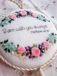 Beautiful embroidery with biblical quotations by NeedleandMagic