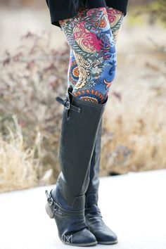 Fur Lined Print Leggings! 12 Styles Available!