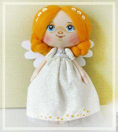 Купить Ангел Лета - белый, ангел, кукла ручной работы, ручная роспись, кукла…