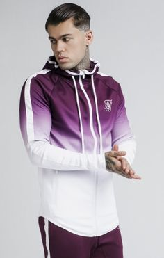 Jersey SikSilk M/L Degradado Burgundy - € Indian Men Fashion, Mens Fashion Wear, Gym Outfit Men, Hoodie Outfit, Best Hoodies For Men, Smart Attire, Dashiki For Men, Dress Suits For Men, Sporty Outfits
