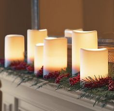 Christmas Decorating Ideas for Mantels | days of Christmas inspiration: Merry Mantels - The Frugal Homemaker