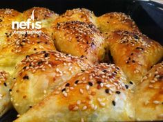 Next Day Pastry Platz) - Yemekler - Cake Toppers! Iftar, Baking Recipes, Cake Recipes, Turkish Recipes, Appetisers, Bagel, Family Meals, Food And Drink, Bread