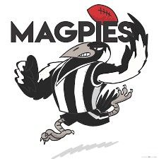 Collingwood Magpies-AFL Richmond Afl, Collingwood Football Club, Australian Football, Funny Character, Magpie, Machine Embroidery Designs, Cricut, Logos, Fictional Characters