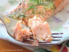 Garlic Pesto Butter Roasted Salmon with dill Fish Dishes, Seafood Dishes, Fish And Seafood, Main Dishes, Salmon Recipes, Fish Recipes, Seafood Recipes, Dinner Recipes, Recipies