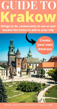 Looking to plan the perfect weekend itinerary for Krakow, Poland? The beautiful architecture of the old town area along with the bars and restaurants make it easy to find delicious local food dishes to eat while being completely relaxed. There are many things to do both in the city centre and just outside including Wawel Castle and the Jewish Quarter. Use this guide to plan the perfect trip to Krakow. #krakow #poland #guide #thingstodo