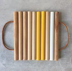 DIY dessous de plat dessous plat en bois Magazine Deco, Bois Diy, Bamboo House, Cool Things To Buy, Diy Projects, Homemade, Cool Stuff, Tableware, Wood
