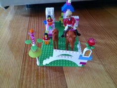 Horse stable made out of Lego that Eadie built.