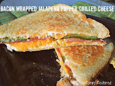 Bacon Wrapped Jalapeno Popper Grilled Cheese