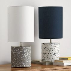 Concrete Chip Lighting Lamp - Round #ConcreteLamp