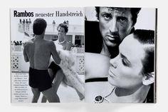Sylvester Stallone et Brigitte Nielsen par Herb Ritts pour Männer Vogue