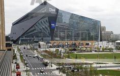 US Bank Stadium. Home of the Minnesota Vikings.