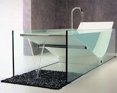 Am liking this infinity design - Le Cob bathtub from Omvivo
