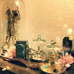 Love the glass dome jewelry holder from wendyslookbook