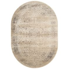 Safavieh Vintage Warm Beige Viscose Rug (5' Oval) | Overstock.com Shopping - The Best Deals on Round/Oval/Square