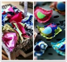 Scrap Fabric Birds Are your scraps taking over? Instead, use your fabric to create crafts with scrap material. These Scrap Fabric Birds can be used to create magnets, ornaments, lavender sachets and so much more. Fabric Birds, Fabric Scraps, Quilting Fabric, Scrap Fabric Projects, Sewing Projects, Craft Projects, Sewing Hacks, Sewing Crafts, Felt Crafts