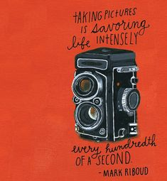 SF artist Lisa Congdon has put together a photography-themed journal that is packed full of inspirational photography quotes and over 100 lined pages for you to fill with ideas for your next shoot.