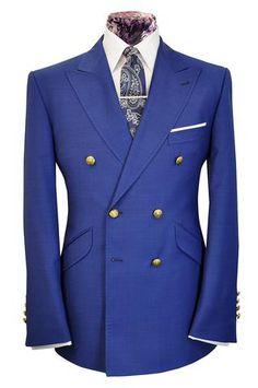 The Mollison Aquamarine Blue Blazer - William Hunt Savile Row  - 1