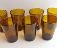 Large amber glass by Kaj Franck for Nuutajärvi, Finland. Pattern No Vintage, rare Finnish glass. Mid Century Modern Decor, Amber Color, Cozy Bedroom, Amber Glass, Glass Design, Colored Glass, Finland, Mid-century Modern, I Shop