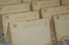 100  Wedding Place Cards  Vintage Post Cards by GreenAcresCottage