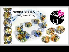 Beads like Murano Glass with Polymer Clay | Tutorial | ENG version - YouTube