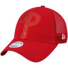 buy online e5af0 f0c52 Women s Philadelphia Phillies New Era Red Shined Up Trucker 9TWENTY  Adjustable Hat,  23.99