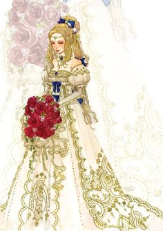 "Art of Celes Chere from ""Final Fantasy VI"" game by manga artist Sakizou."