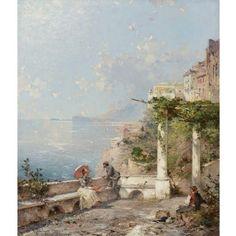 Franz Richard Unterberger, Sorrento, on the Bay of Naples