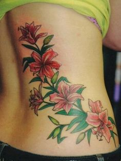 #floral #tattoo on the back