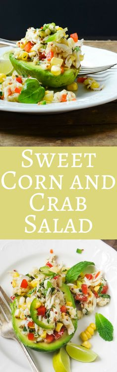 An easy no-cook summer recipe, this Sweet Corn and Crab Salad is delicious for a special appetizer or main course. via @GarlicandZest