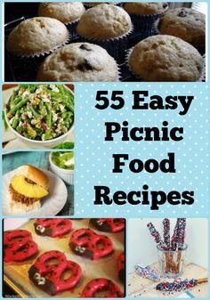 55 Easy Picnic Food Recipes #food #picnic #summerrecipes
