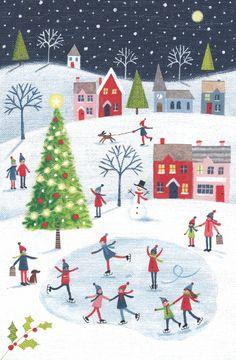 Leading Illustration & Publishing Agency based in London, New York & Marbella. Christmas Scenes, Christmas Love, Christmas Design, Christmas Pictures, All Things Christmas, Winter Christmas, Vintage Christmas, Christmas Crafts, Illustration Noel