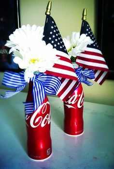 Fourth of July center piece. Super Americana.