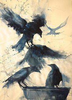 "buzzbuzzstuff: "" Totem by Sarah Yeoman Watercolor """