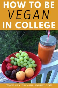 Learn how to be Vegan in College and combat the difficulties on living in a dorm! | Hey Its Camille Grey #vegan #college #collegestudent #student