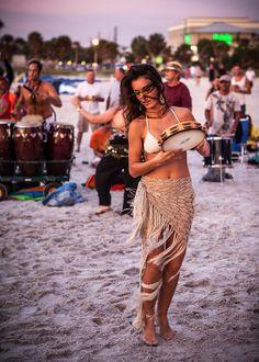 Tamborine Dance within a hand drum circle...