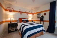 This Lennar kid's room in Moncks Corner, SC is a slam dunk! #basketball #bedroom