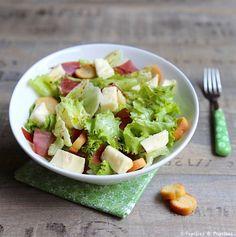 Salade au Reblochon et à la viande des grisons No Salt Recipes, Le Diner, Celery, Cobb Salad, Potato Salad, Cabbage, Salads, Food Porn, Good Food